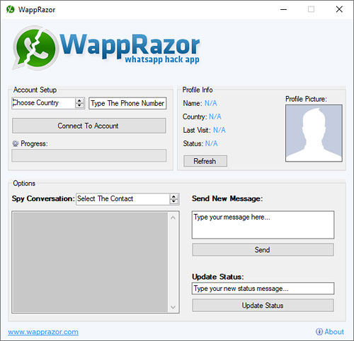WappRazor - WhatsApp Hack & Spy App